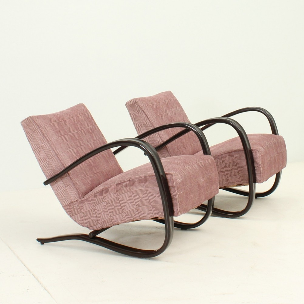 A Pair of Lounge Chairs by Jindrich Halabala, 1930s