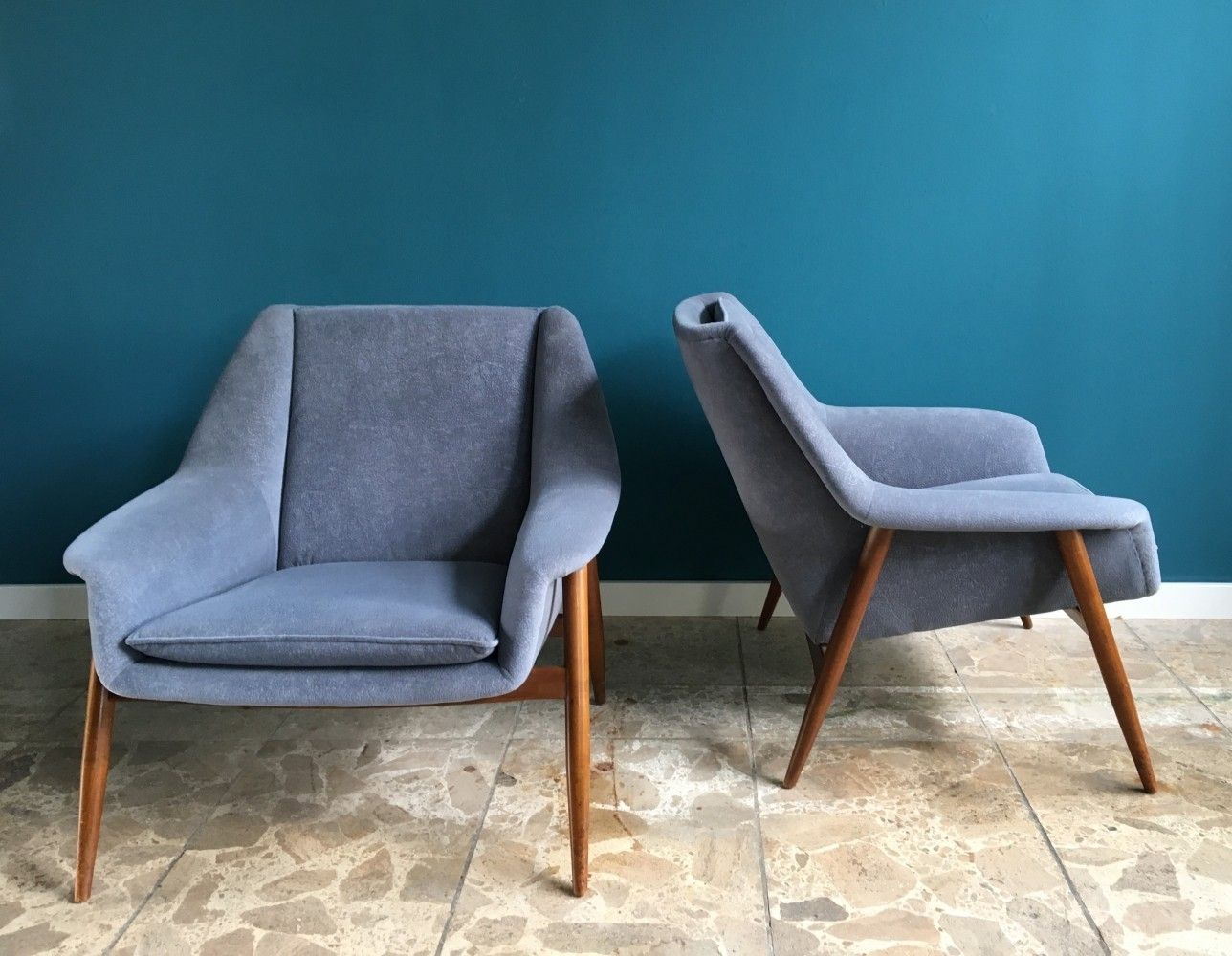 2 x vintage lounge chair 1960s