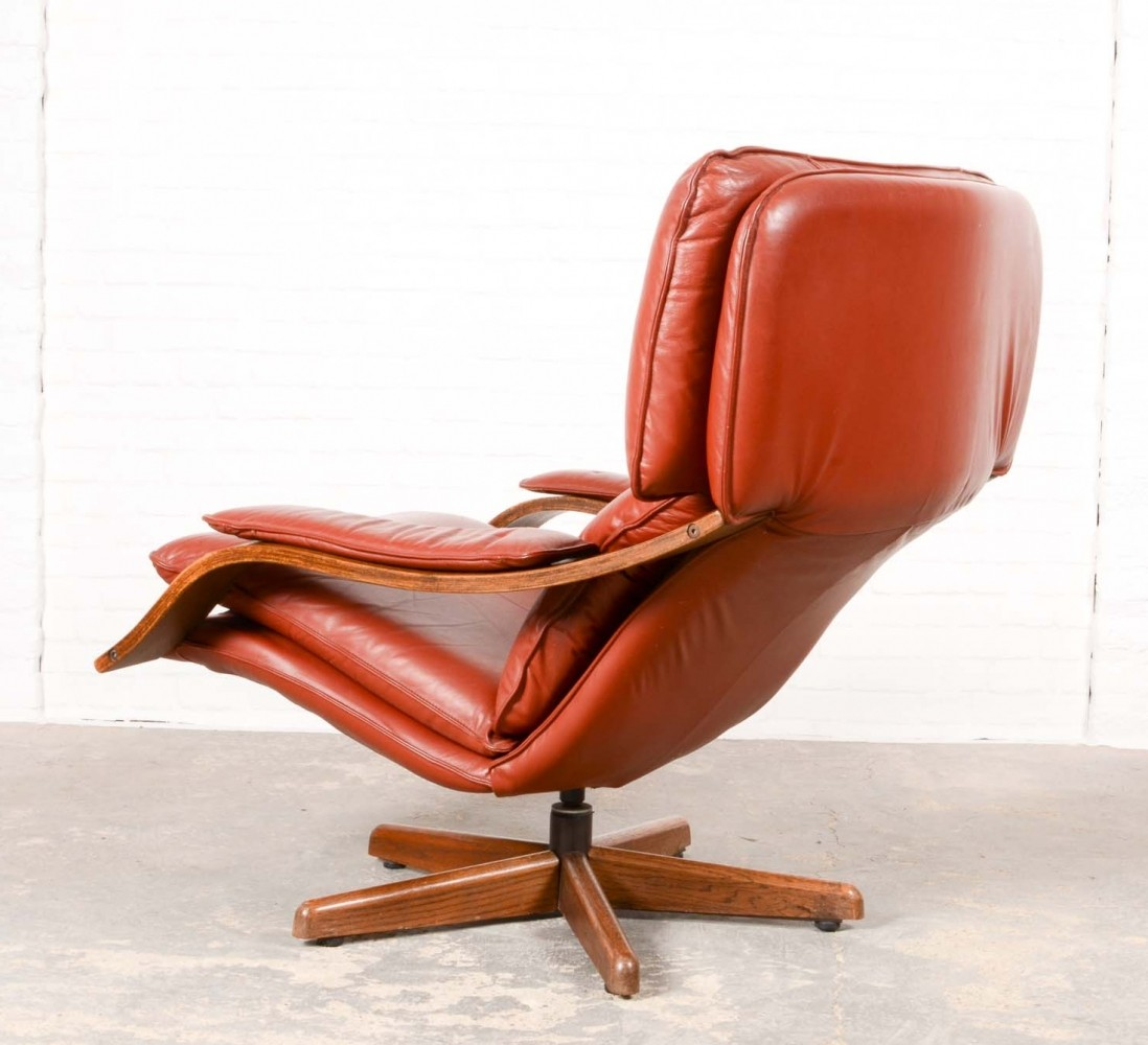 majestic midcentury swivel relax lounge chair 1960s