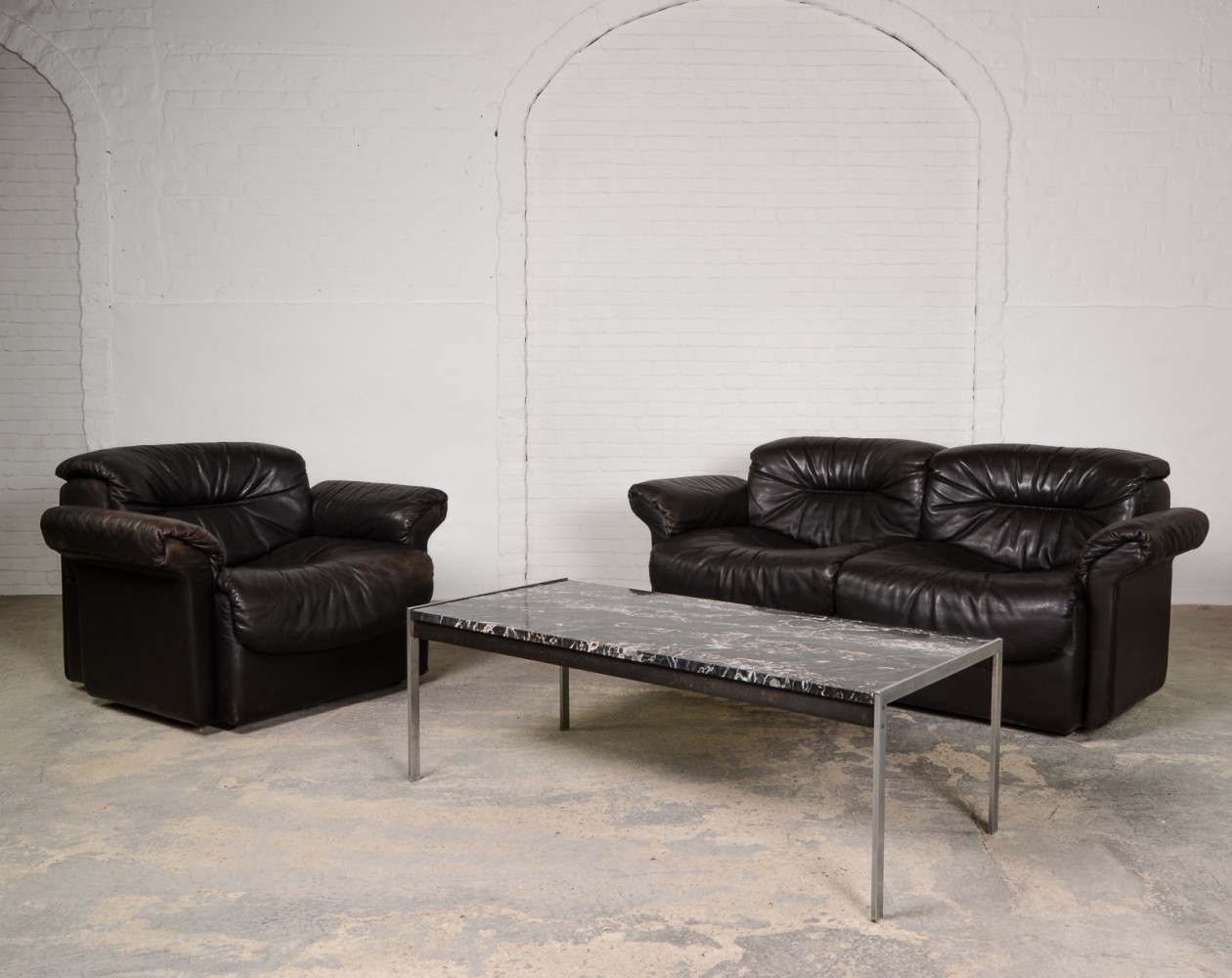 Leather Sofa Set Sofas Tufted Couch Living