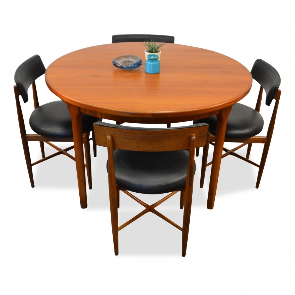 G plan teak dining set 1960s 67359 for G plan dining room furniture sale
