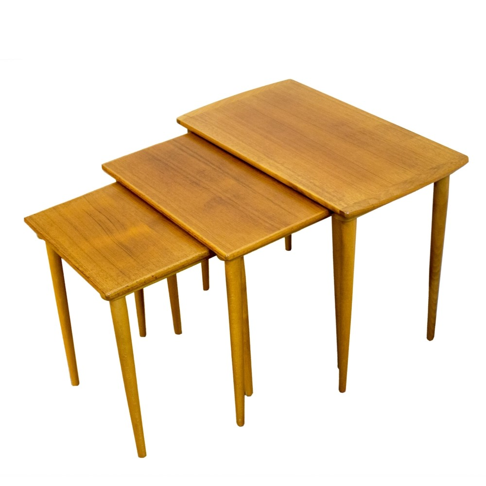 Set Of 3 Nesting Tables, 1960s
