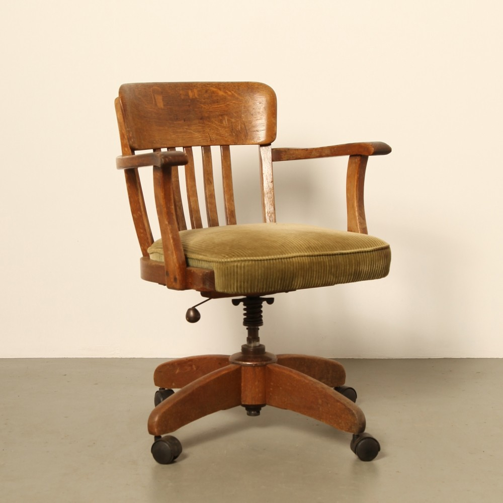 office chair vintage. Vintage Office Chair, 1920s Chair VNTG
