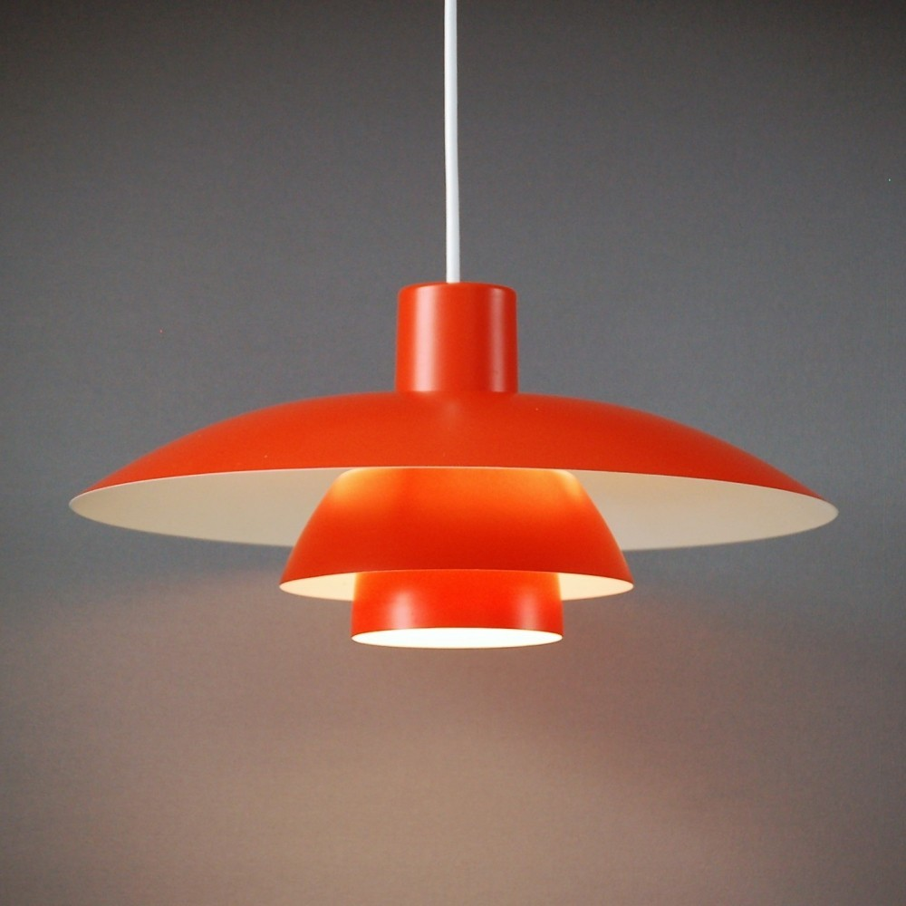 orange ph 4 3 hanging lamp by poul henningsen for louis poulsen 68210. Black Bedroom Furniture Sets. Home Design Ideas