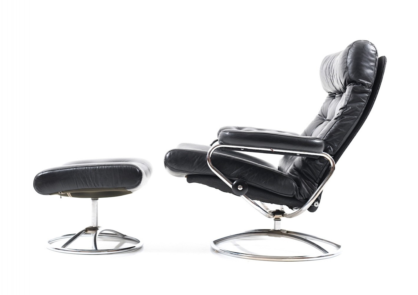 Stressless Lounge Chair U0026 Ottoman By Ekornes, 1960s