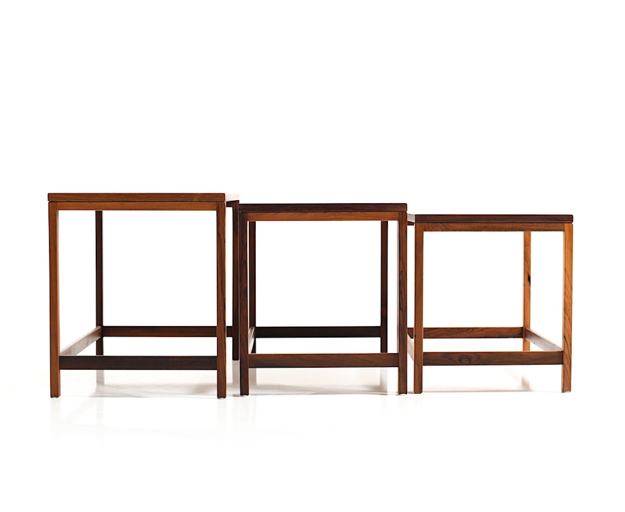 Danish Nesting Tables In Rosewood, 1960s