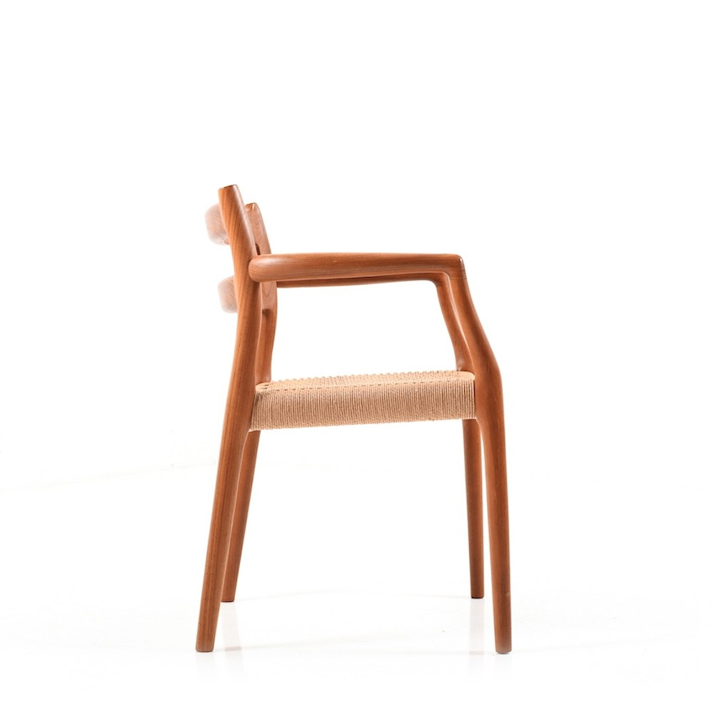 Model no.67 arm chair in Teak by Niels Otto Møller, 1960s