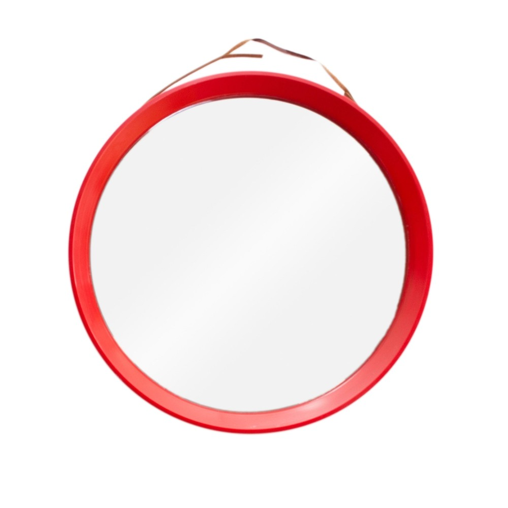 danish round wall mirror 1970s