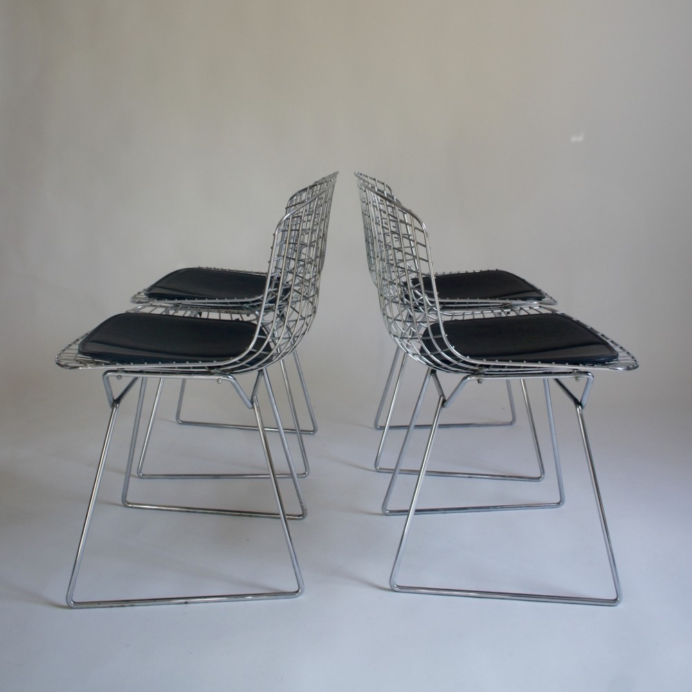 Set of 4 Wire dinner chairs by Harry Bertoia, 1960s