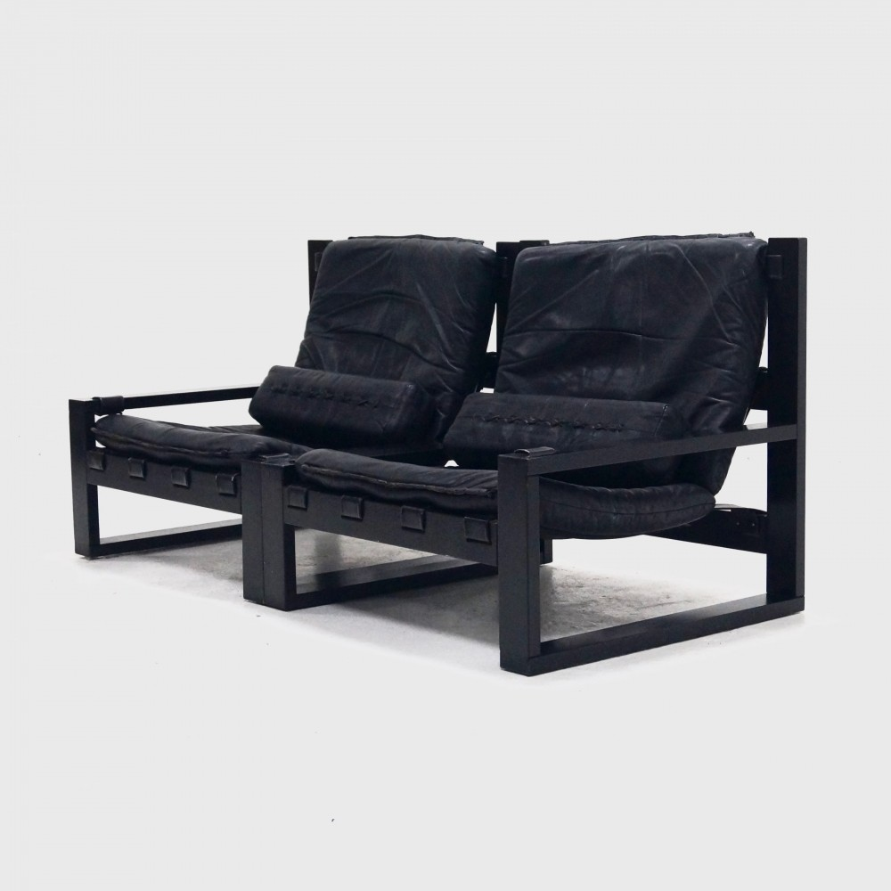 Brutalist Sonja Wasseur Two Seater Lounge Chair 1970s