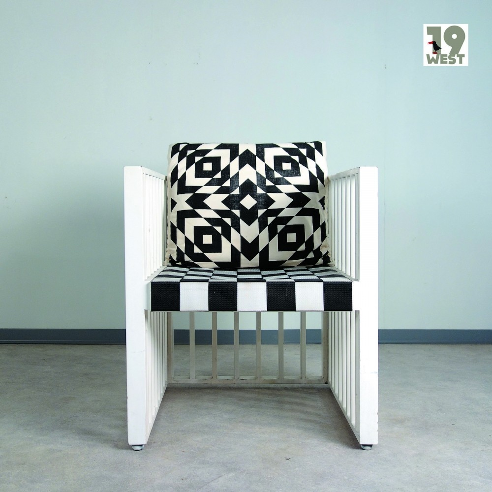 Purkersdorf arm chair by Josef Hoffmann & Koloman Moser for Wittmann, 1970s