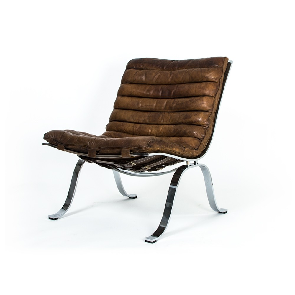 Vintage Buffalo leather Ariet chair by Arne Norell for Norell mobel AB. Urban Modern   9 vintage design items