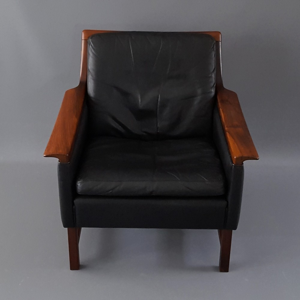 Rosewood Arm Chair by Torbjorn Afdal for Nesjestranda Mobelfabrik