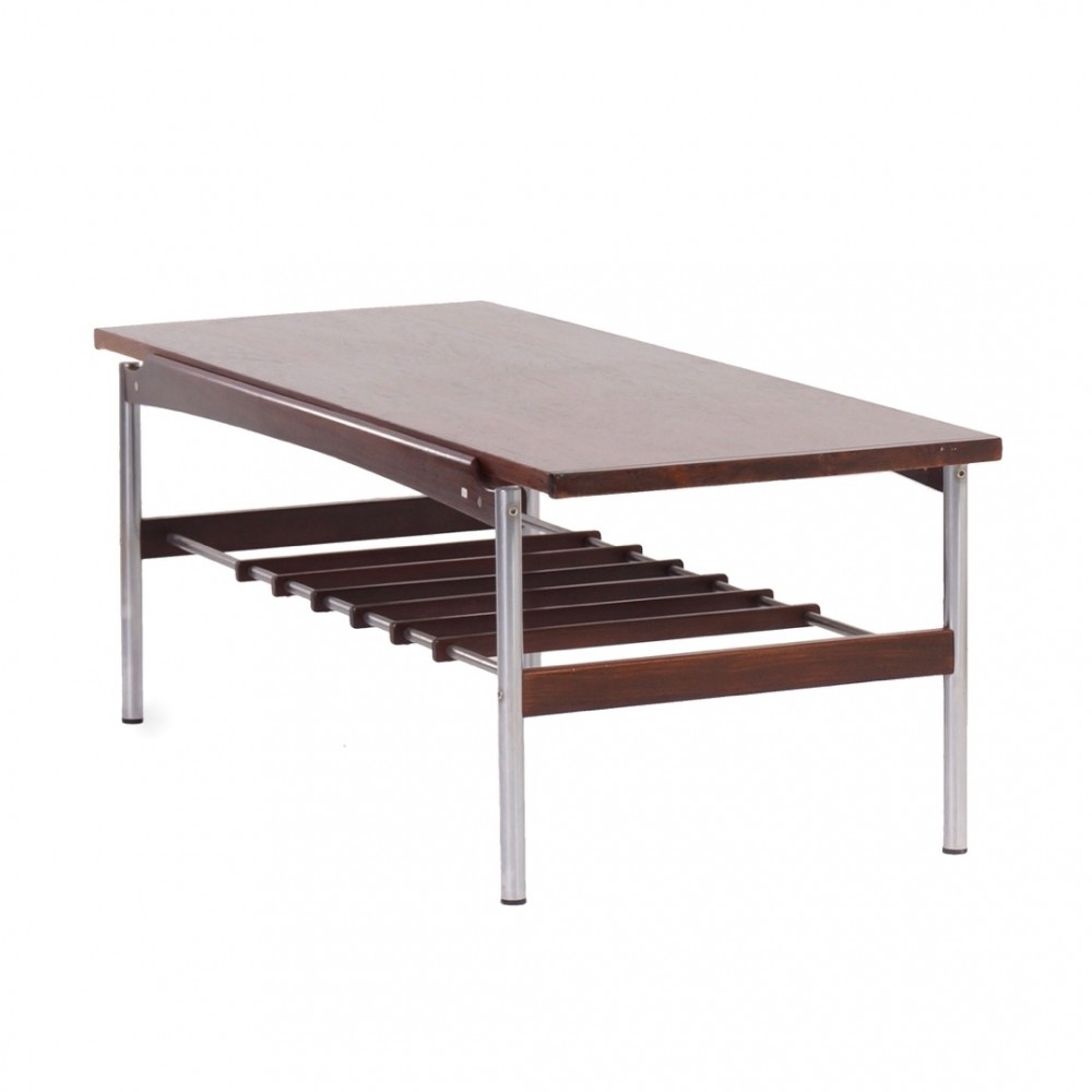 Rosewood Coffee Table from Topform with Reversible Top 1970s