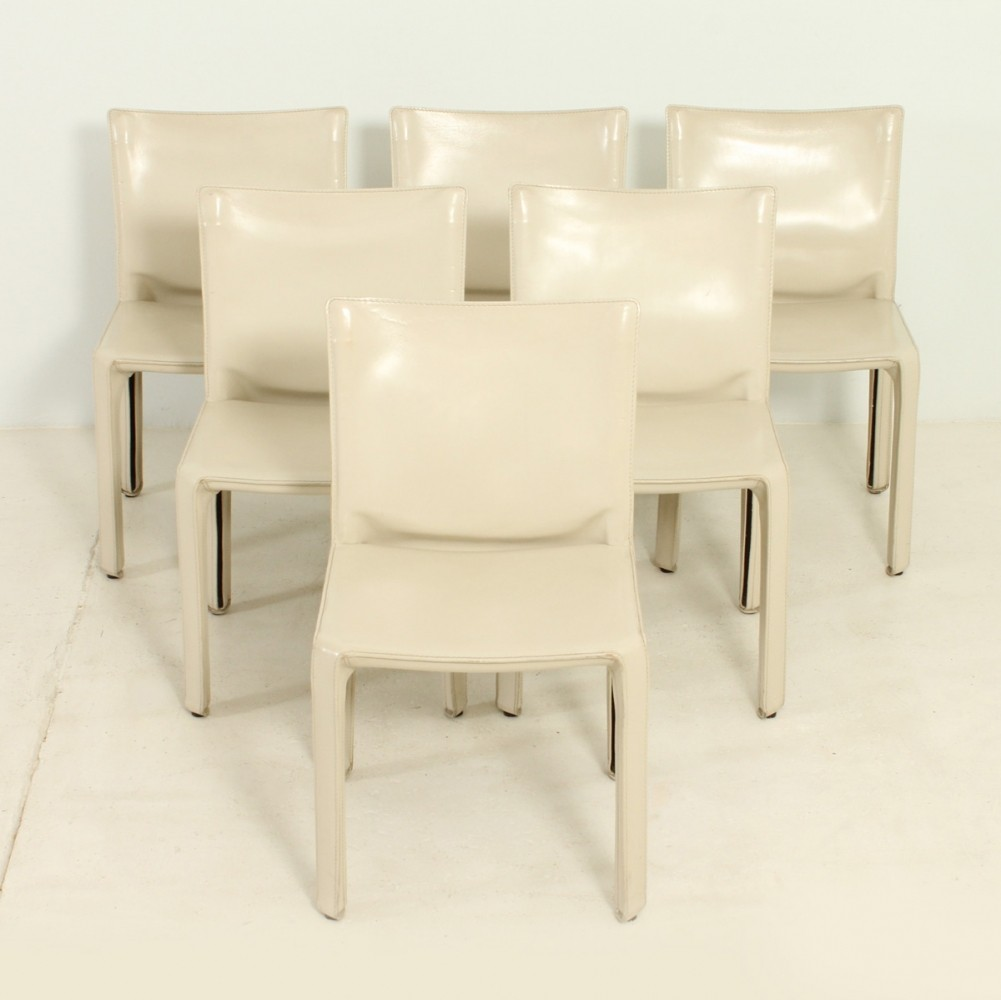 Set of Six Cab Chairs by Mario Bellini