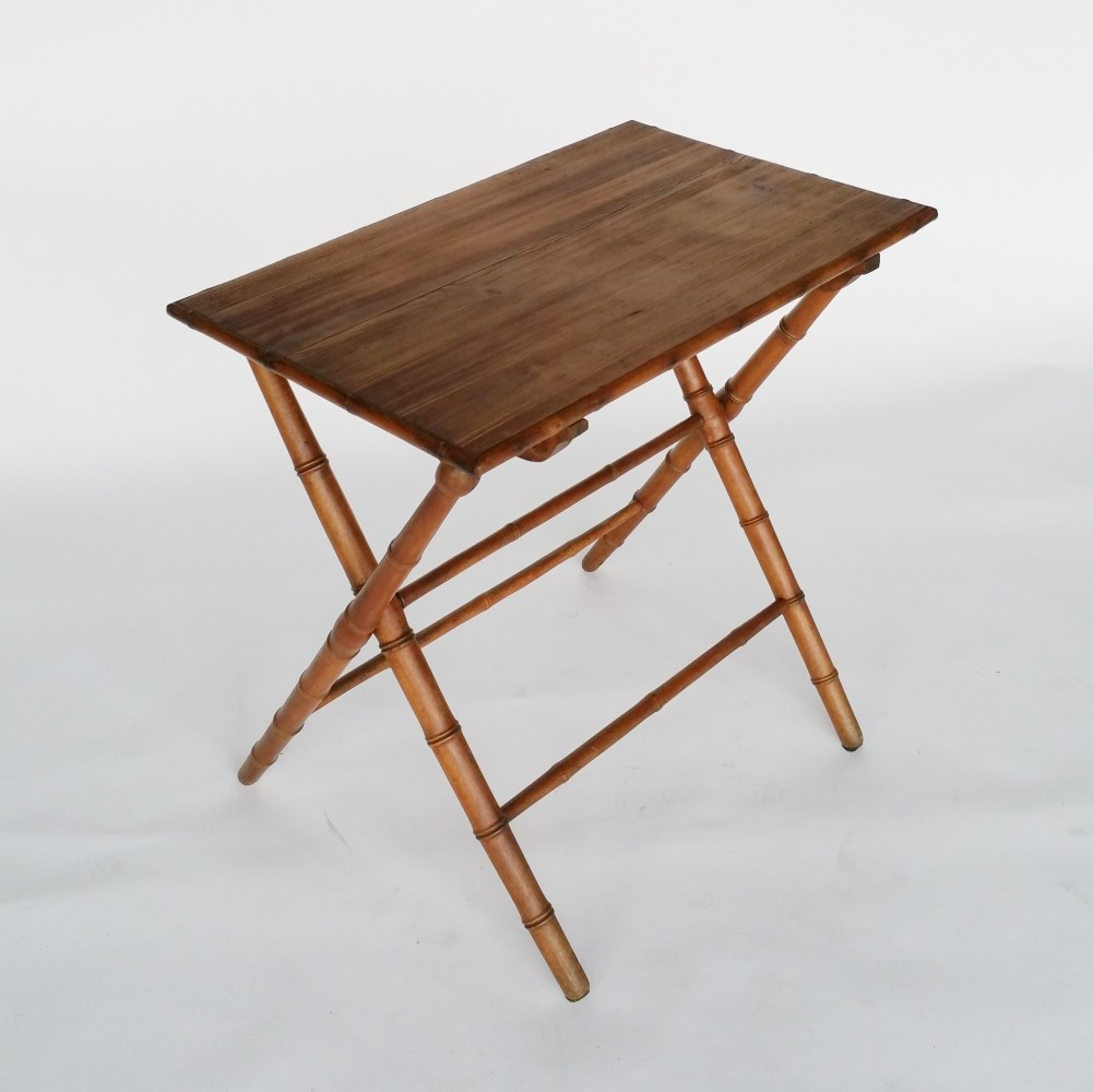 Faux Bamboo Wooden Folding Table