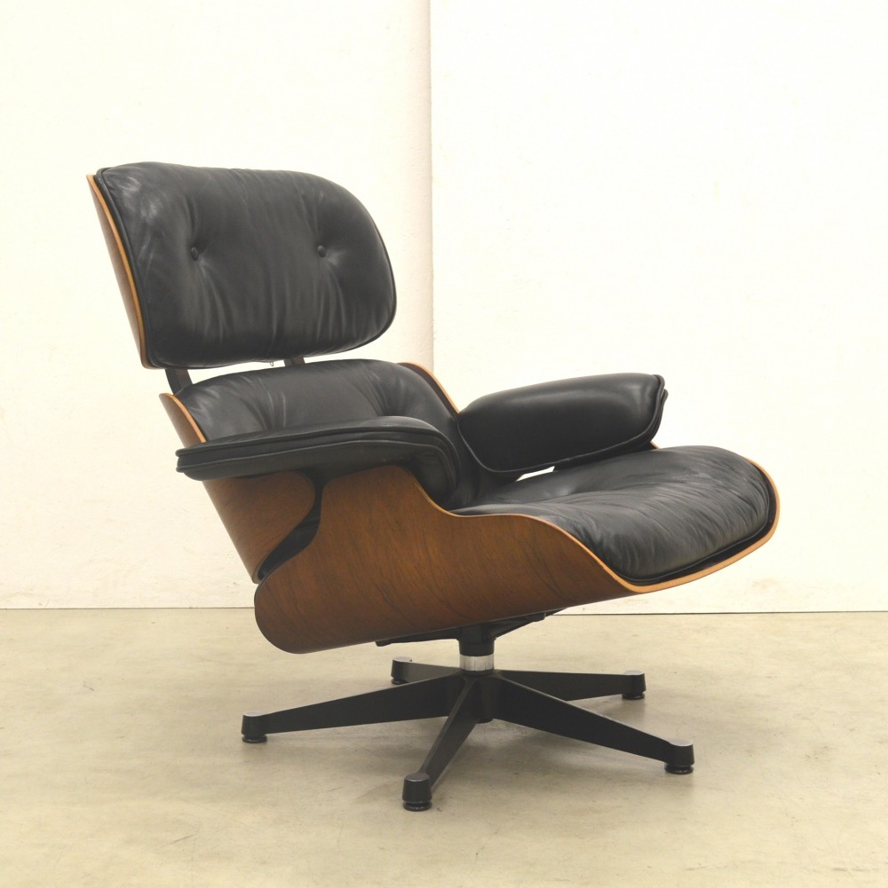 Rosewood lounge chair by Charles & Ray Eames for Vitra, 1980s