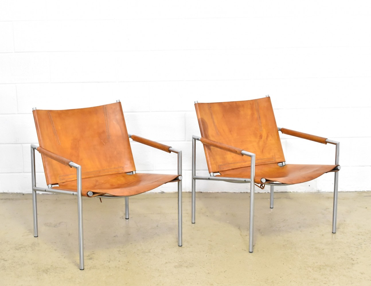 2 x ZS02 lounge chair by Martin Visser for Spectrum, 1960s