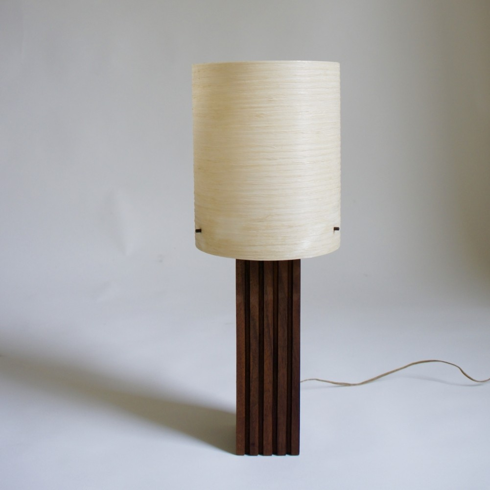 Danish Table Lamp With Spun Fibreglass Shade