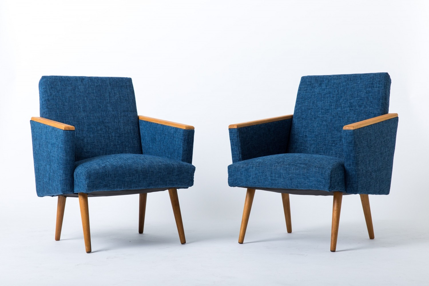 Pair of Club arm chairs by Interier Praha, 1960s