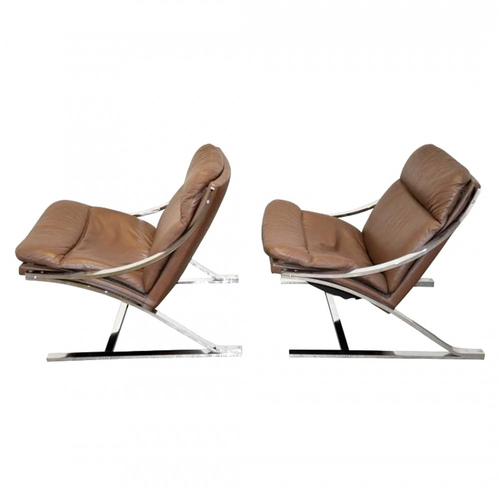 Pair of Zeta arm chairs by Paul Tuttle for Strässle, 1960s