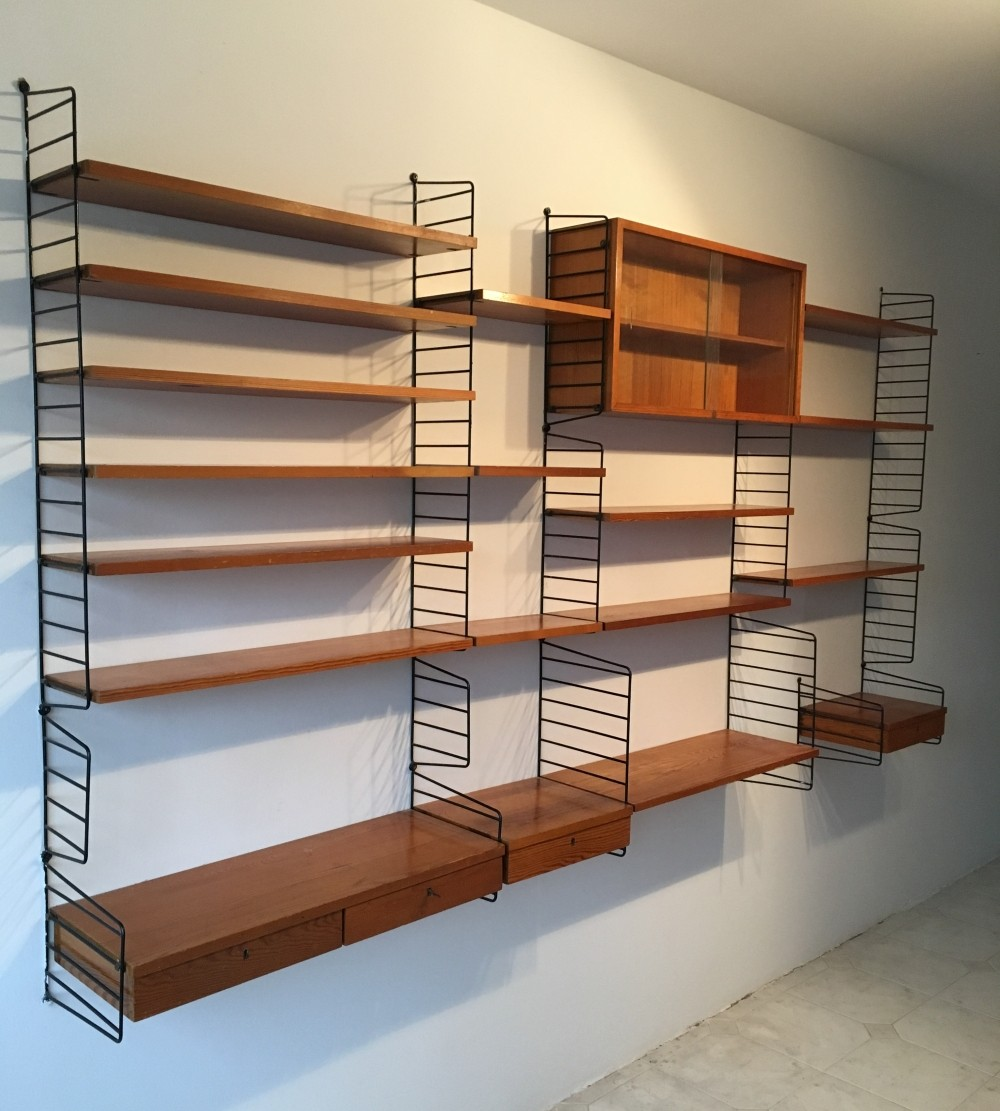 Wall unit by Nisse Strinning for String, 1950s | #70475
