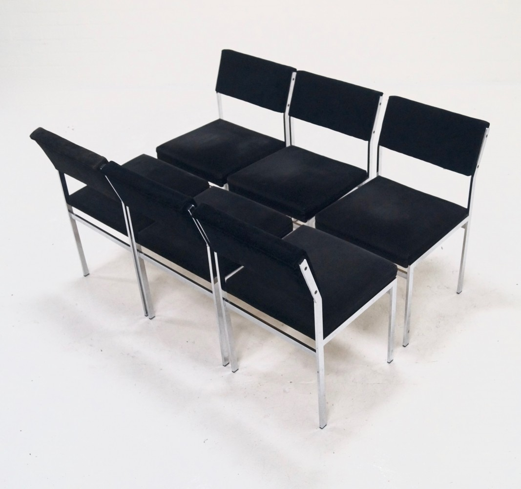 Set of 6 Japanese Series Dining Chairs by Cees Braakman for Pastoe