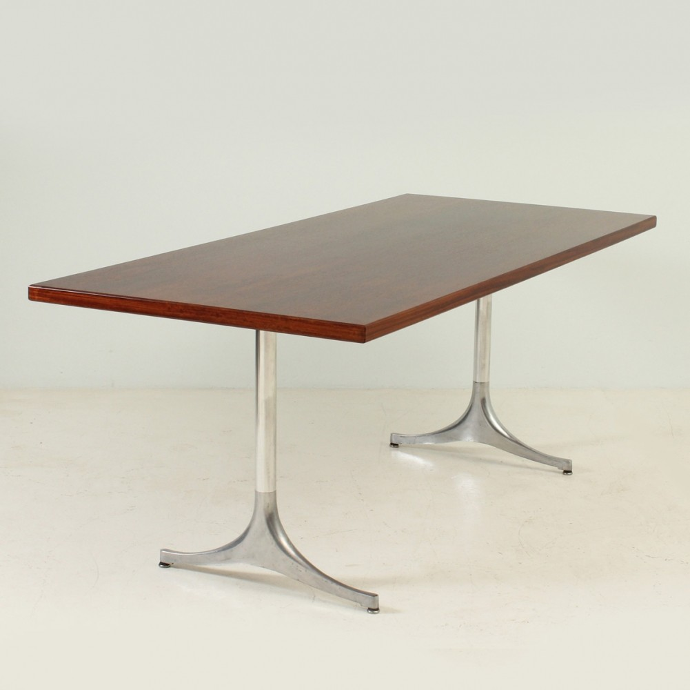 Rare Pedestal Table in Rosewood by George Nelson