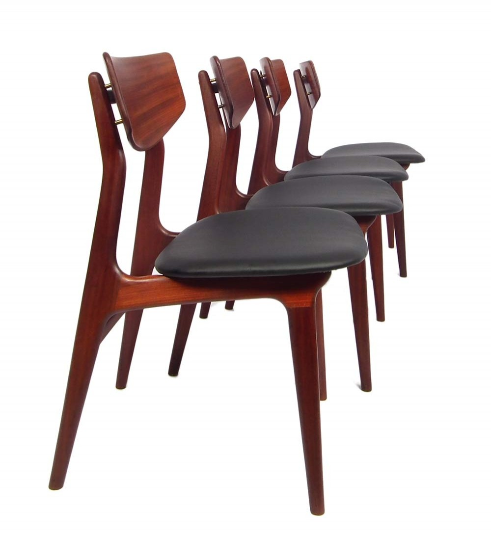 Set of 4 dinner chairs by Louis van Teeffelen for Wébé, 1950s