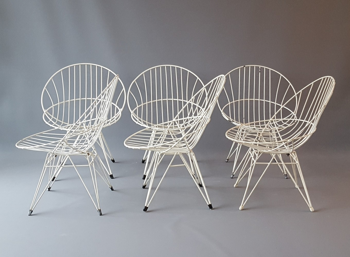 Set of 6 Combex Wire Chairs by Cees Braakman for Pastoe, 1950s