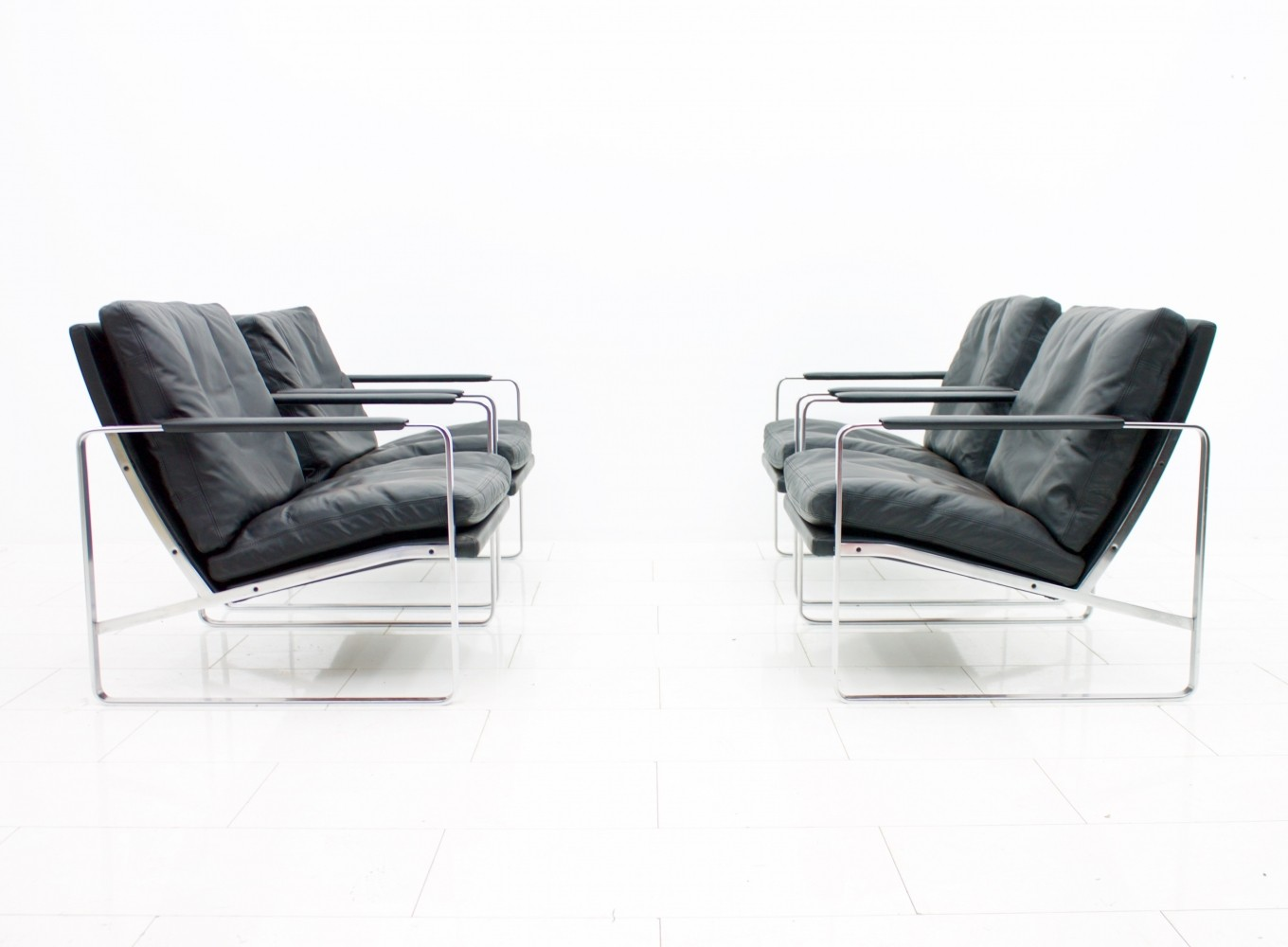 4 x model 710 lounge chair by Preben Fabricius for Walter Knoll, 1970s