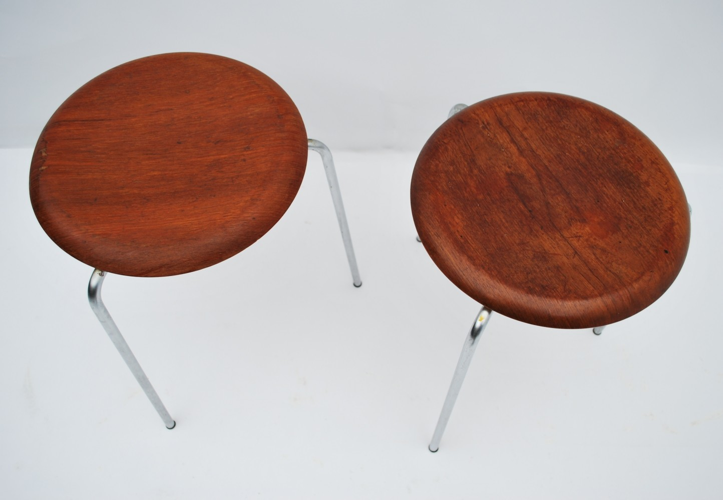 Pair Of Dot Stools By Arne Jacobsen For Fritz Hansen