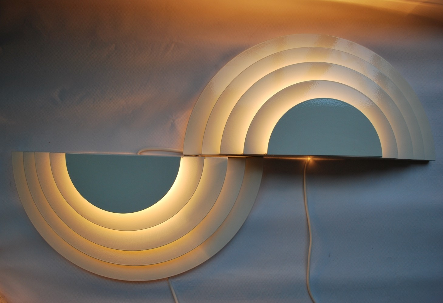 Pair of Meander wall lamps by Cesare Casati & C. Emanuele Ponzio for Raak Amsterdam, 1960s
