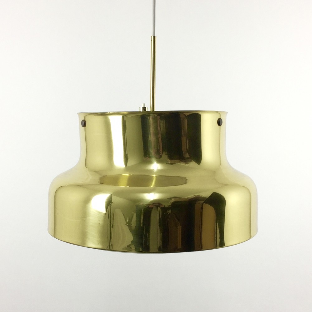 Large Bumling Brass hanging lamp by Anders Pehrson for Ateljé Lyktan, 1960s