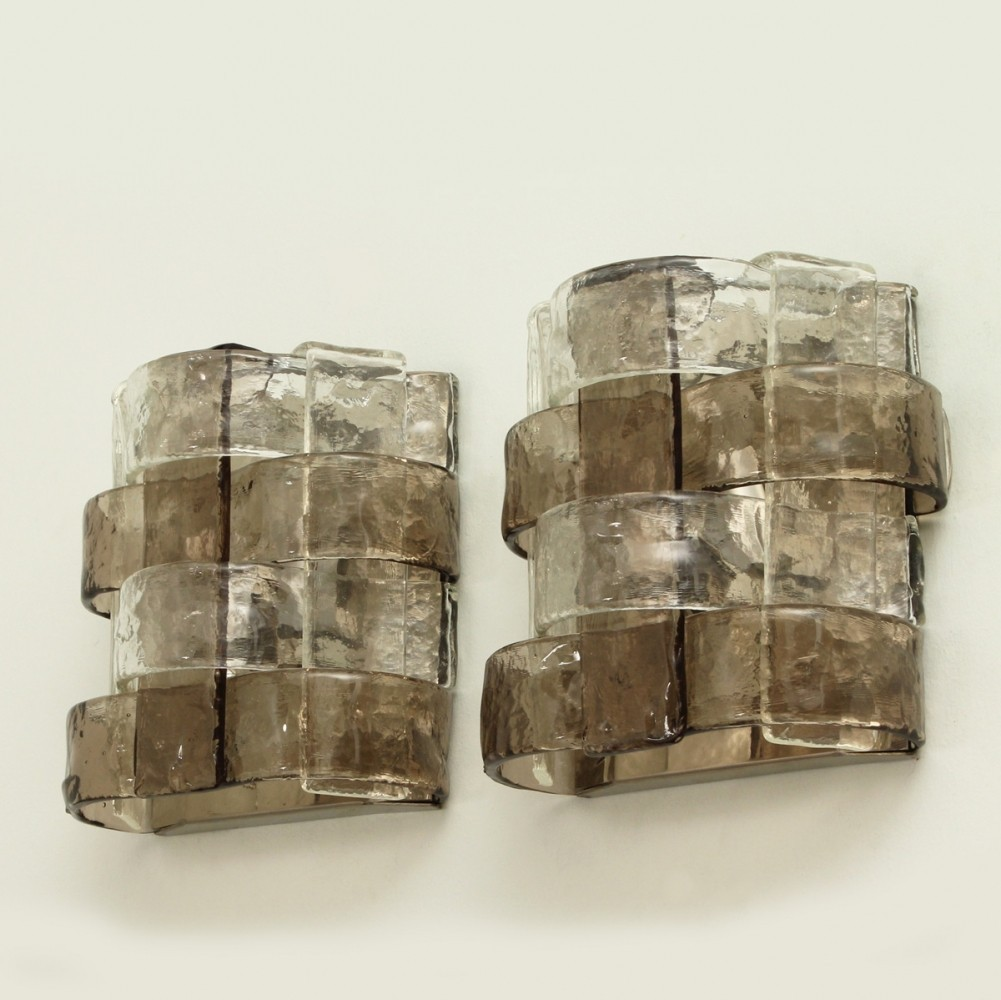 Pair of Carlo Nason Sconces for Mazzega, Italy