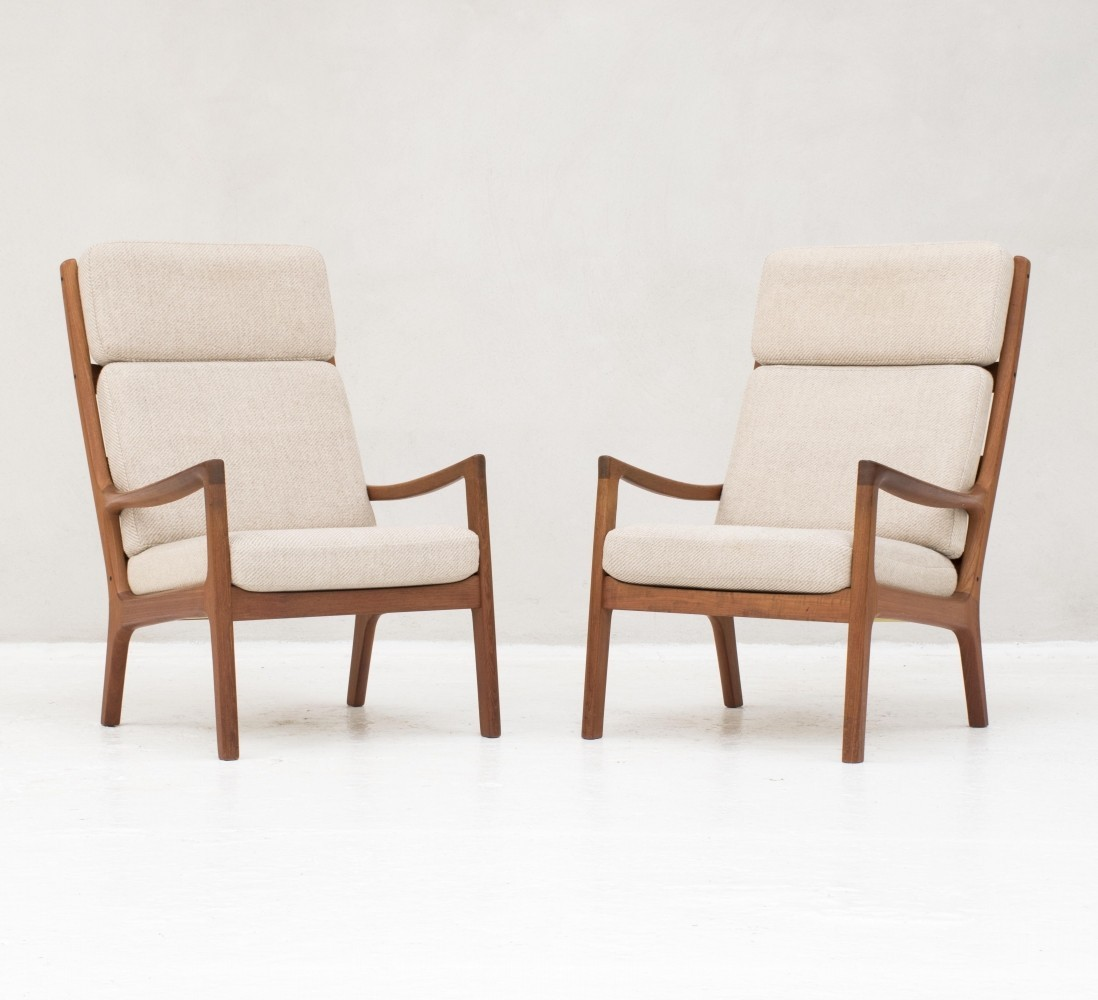 Senator Series High Back Easy Chairs In Teak By Ole