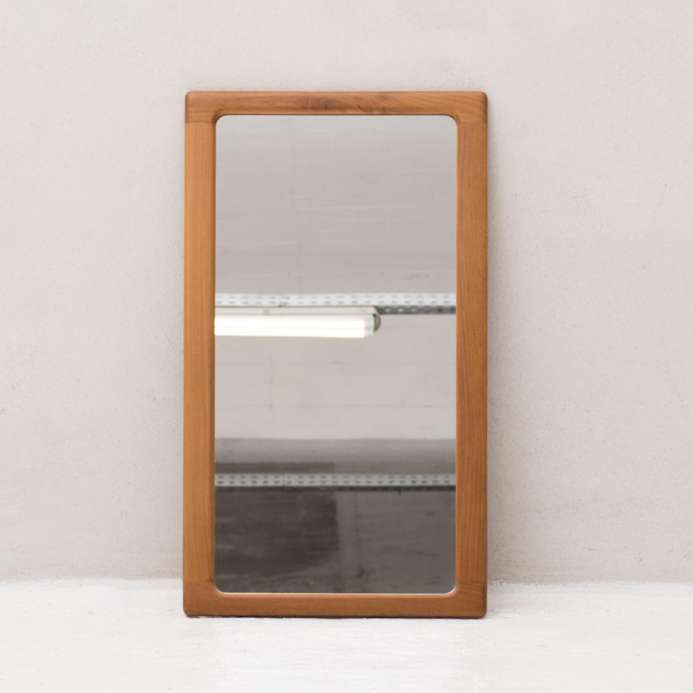 Mirror in teak by Silkeborg, Denmark 1960s