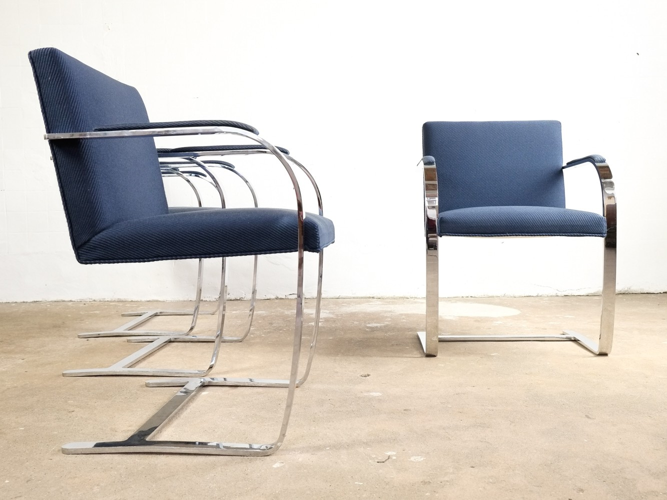 Set of 6 BRNO chairs by Ludwig Mies van der Rohe for Knoll International