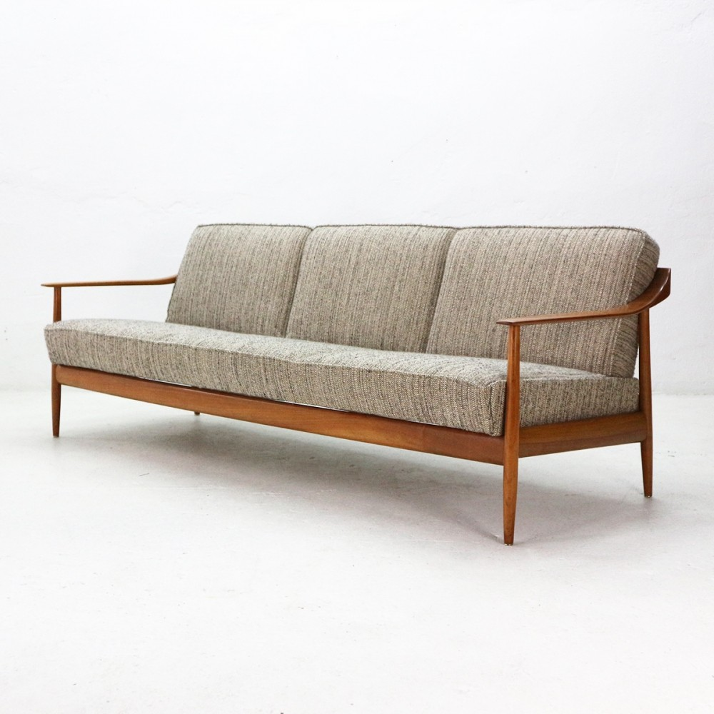 knoll antimott cherrywood foldout sofa bed 1960s 72937. Black Bedroom Furniture Sets. Home Design Ideas