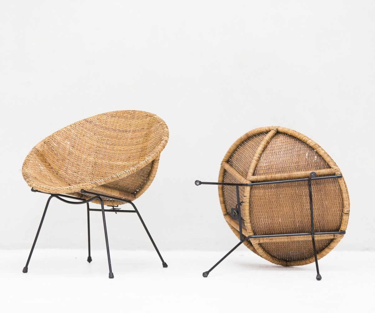 Pair of Bowl chairs, Netherlands 1950s