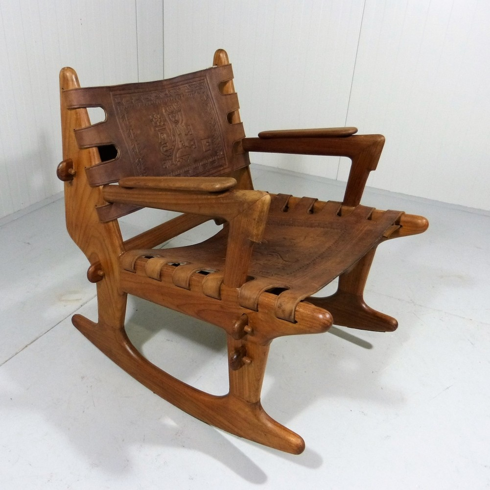 Rocking chair by Angel I. Pazmino for Muebles de Estilo, 1960s