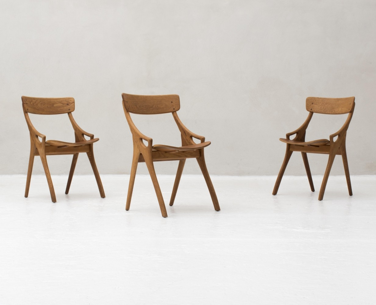 3 chairs by Arne Hovmand Olsen for Mogens Kold