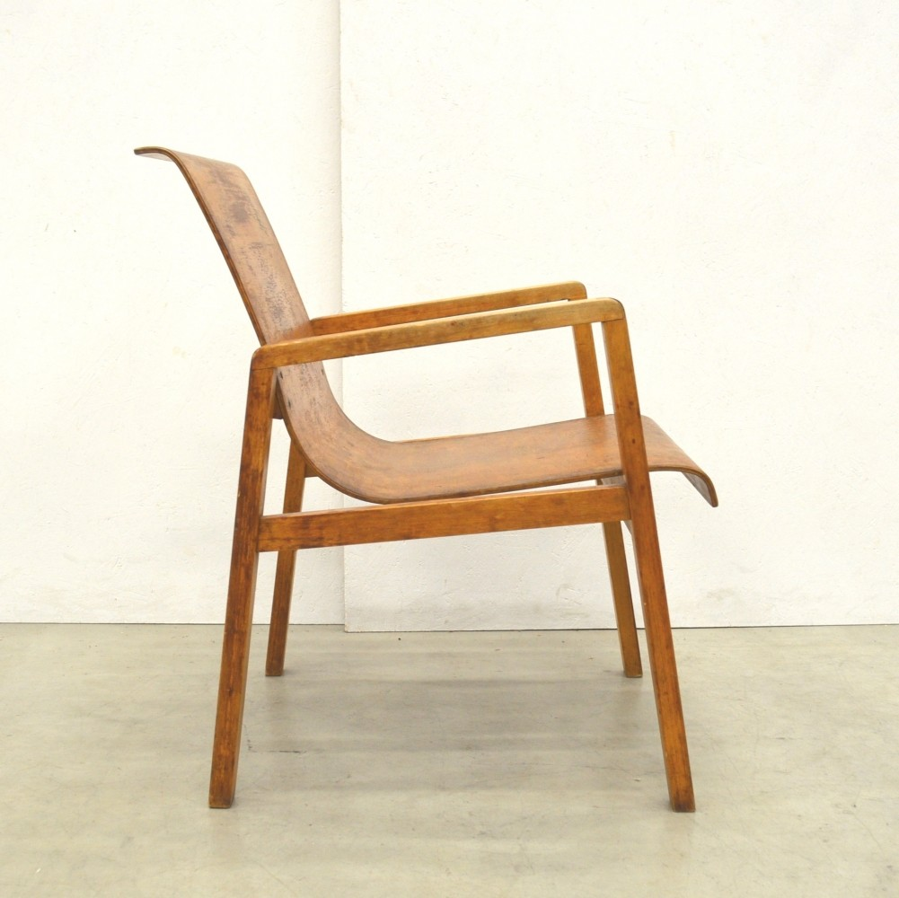 Rare Early 403 Hallway Chair by Alvar Aalto from the Aurora Hospital in Finland