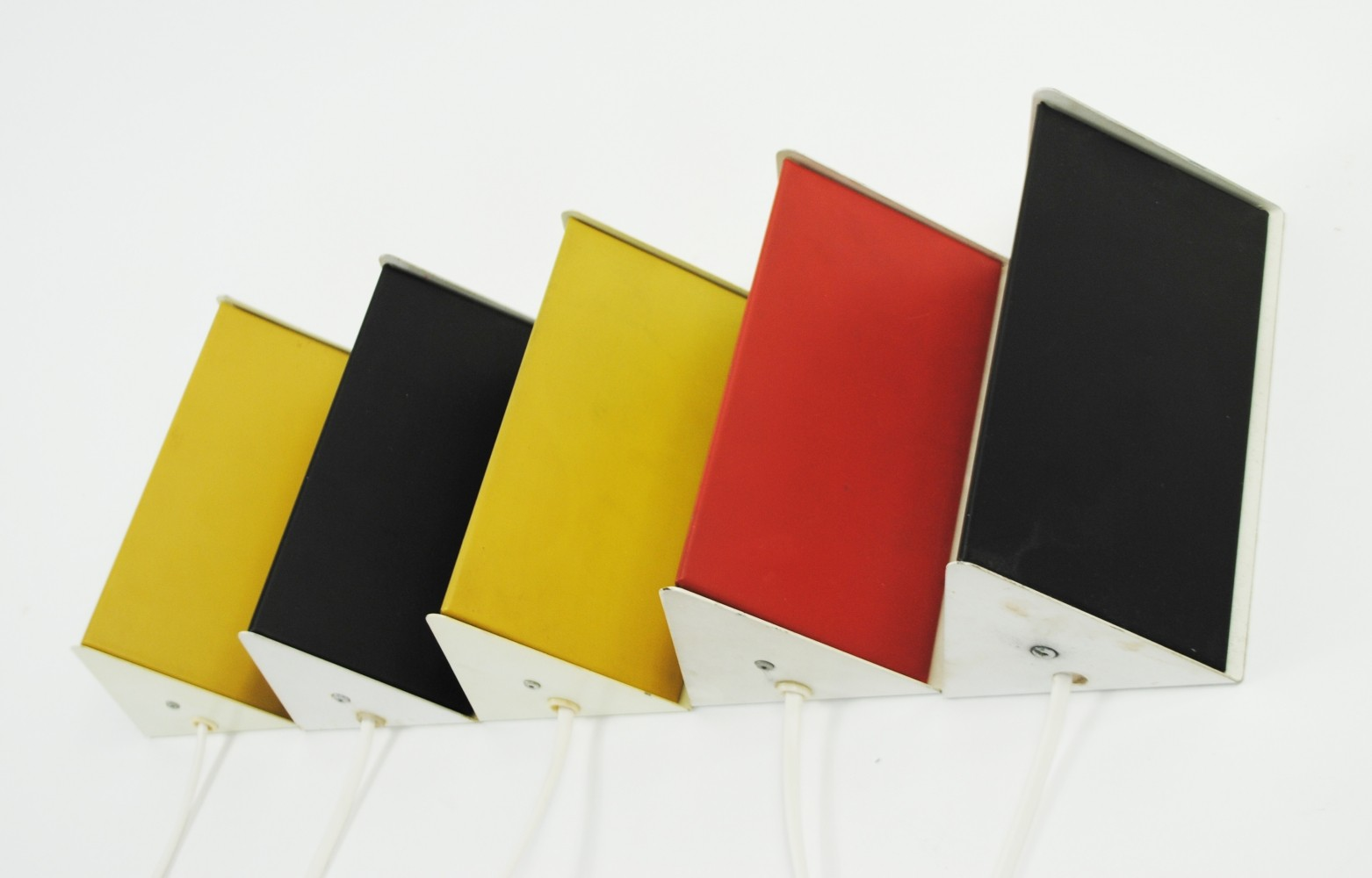 5 x wall lamp by J. Hoogervorst for Anvia Almelo, 1950s