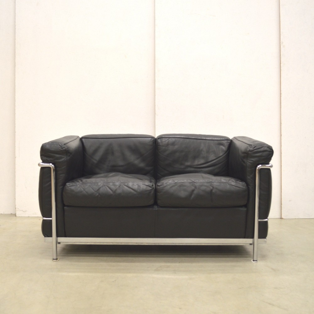 Lc2 sofa by le corbusier for cassina 1990s 74382 Le corbusier lc2 sofa