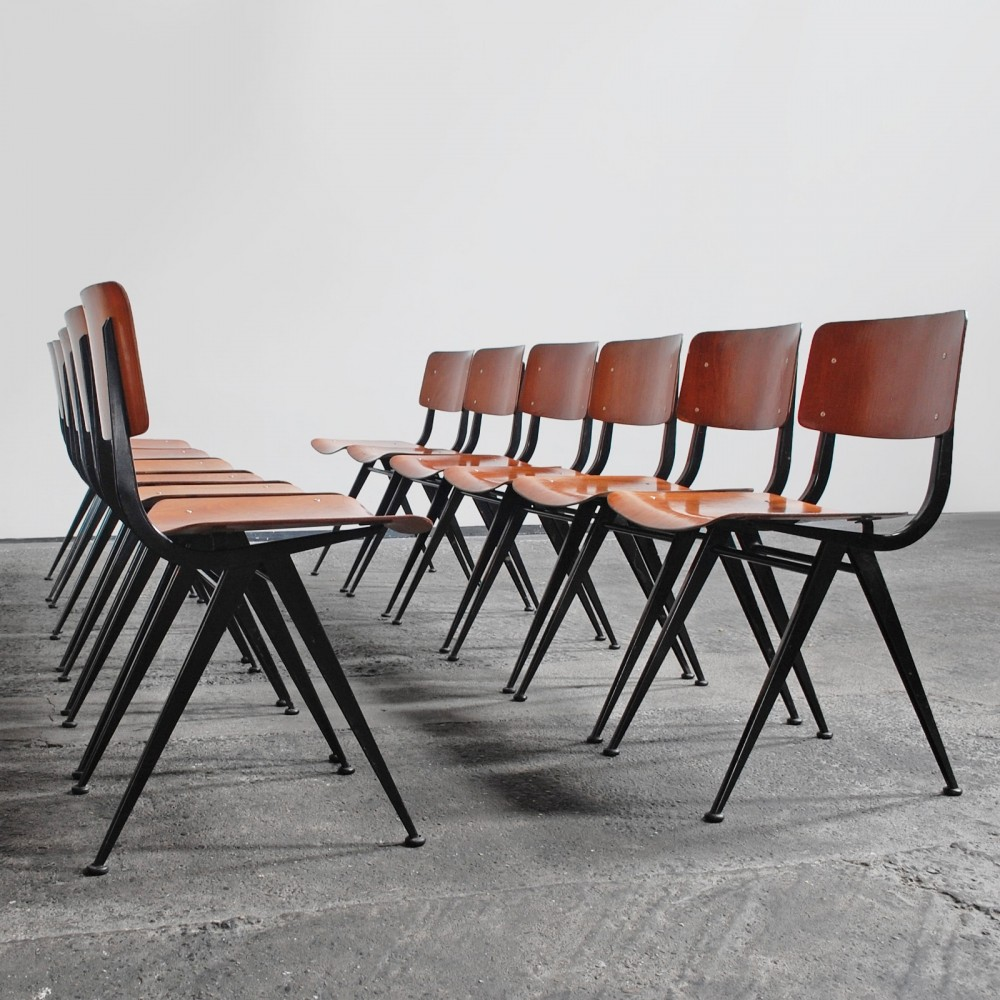 Set of 12 vintage dining chairs, 1960s
