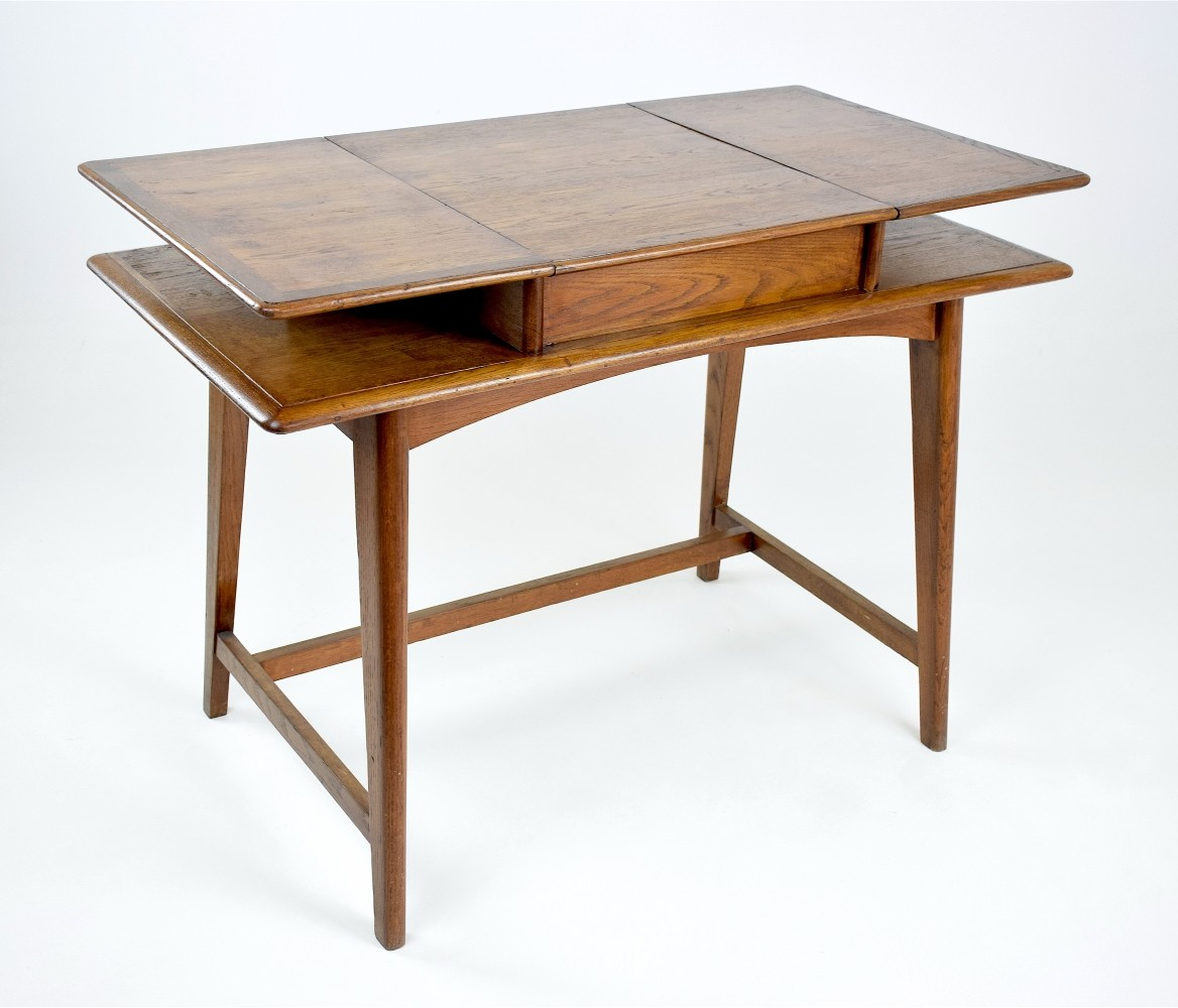 French Mid Century Flip Top Desk 1950 1960