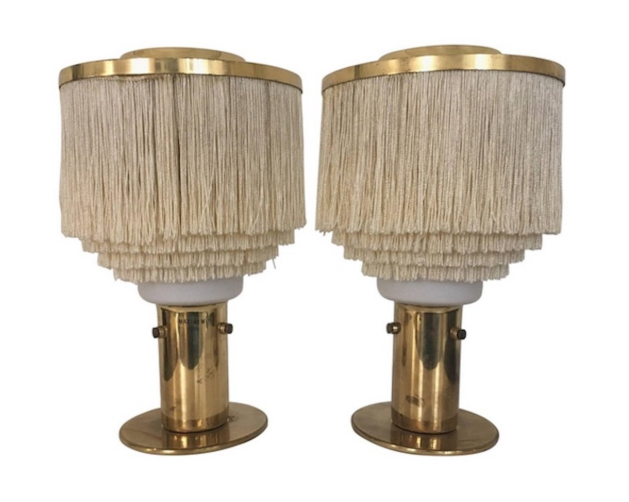 Pair of fringed hans agne jakobsson table lamps model b 145 74557 pair of fringed hans agne jakobsson table lamps model b 145 mozeypictures Gallery