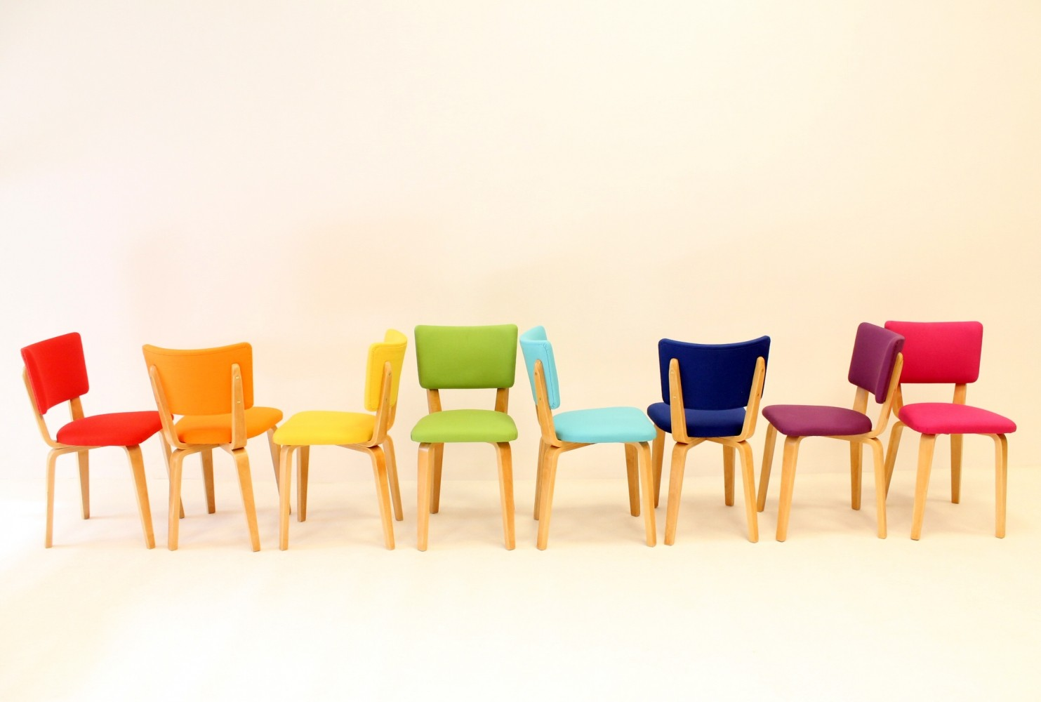 Set of 8 dining chairs by Cor Alons for De Boer, 1950s