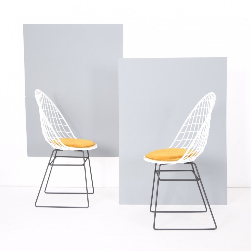 Rare U0026 Early Wire Frame Chairs By Cees Braakman U0026 A. Dekker For Pastoe